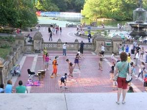 Hula Hoops at Bethesda Fountain