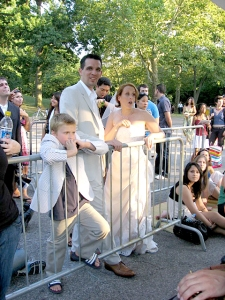 Bridal Party in Line for Balloon